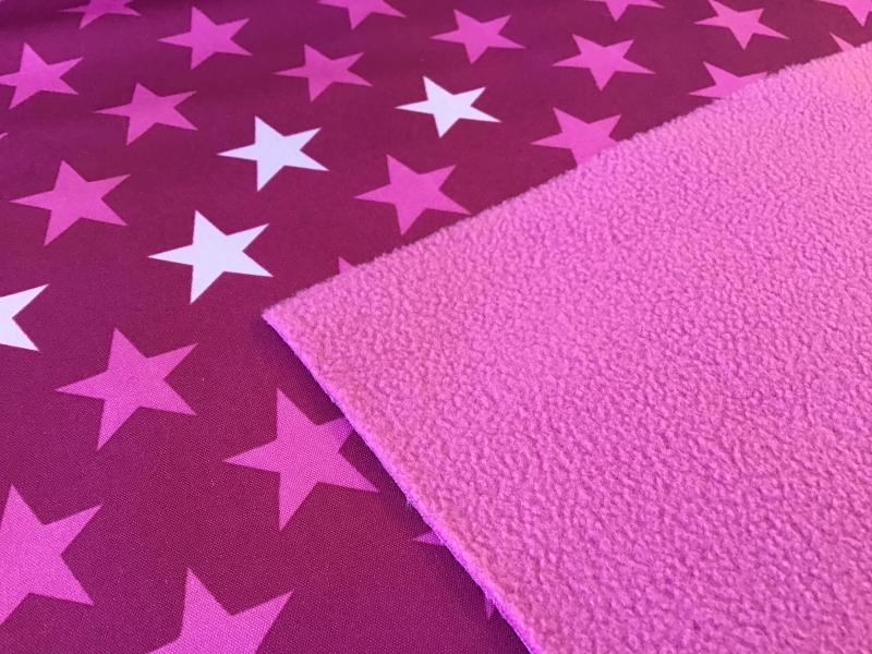 Schickliesel Baumwollstoff Meterware Wei/ße Sterne pink